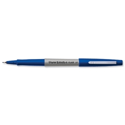 Papermate Ultrafine Felt Tip Pen 0.8mm Tip 0.4mm Line Blue Ref S0901330 - Pack 12