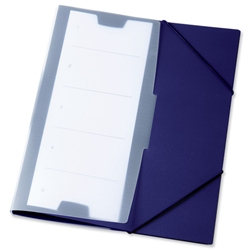 Durable Office Coach Elasticated Folder A4 Dark Blue Ref 2472/07 [Pack 10]