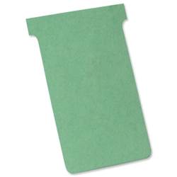 Nobo Acco A80 Size 3 Light Green T-Cards 80x120mm Ref 32938913 - Pack 100