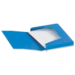 Elba Eurofolio Filing Box Pressboard 25mm Capacity Elasticated Closure A4 Blue Ref A45000031 - Pack 10