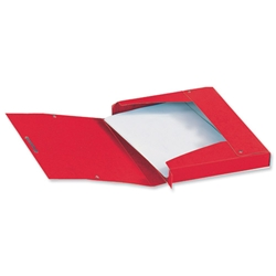 Elba Eurofolio Filing Box Pressboard 25mm Capacity Elasticated Closure A4 Red Ref A45000091 - Pack 10