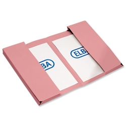 Elba Twin Pocket Document Wallet 310gsm Capacity 2x30mm Foolscap Pink Ref 100092109 [Pack 25]