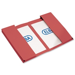 Elba Twin Pocket Document Wallet 310gsm Capacity 2x30mm Foolscap Red Ref 100092110 [Pack 25]