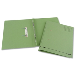 Elba Heavyweight Spring File Manilla 380gsm Foolscap Green Ref 100092101 - Pack 25