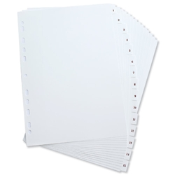 Elba Polypropylene Index Europunched A4 1-15 White Ref 100204779