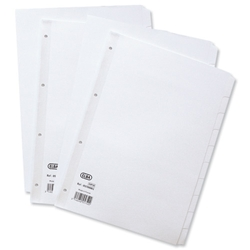 Elba Dividers Europunched 20-Part A4 White Ref 400007500