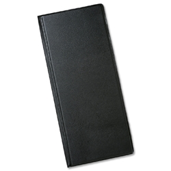 Business Card Album PVC 40 Pockets Slimline 280x120mm Black