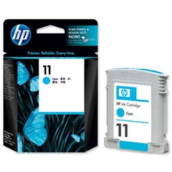 Hewlett Packard HP No. 11 Cyan Inkjet Cartridge 28ml Ref C4836A