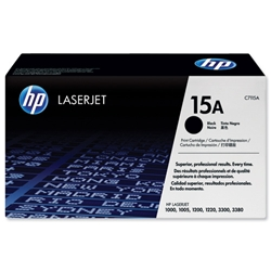 Hewlett Packard HP No. 15a Black Print Cartridge with Ultraprecise Toner for Laserjet 1200/1220 Ref C7115A