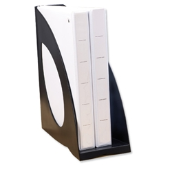 Avery DTR Magazine Rack File Jumbo W130xD265xH320mm Black Ref DR700BLK