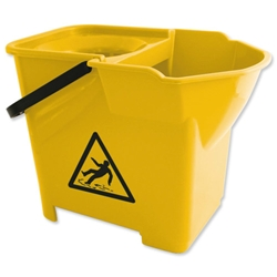 Bentley Colour Coded  Mop Bucket Heavy Duty 16 Litre Capacity Yellow Ref SPCMB16Y