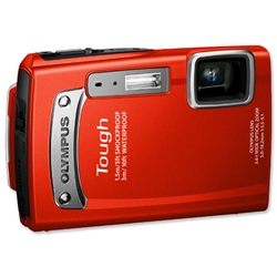 Olympus TG320 Digital Camera 2.7in LCD 3.6x Optical Zoom 14MP Red Ref TG-320 - Item image
