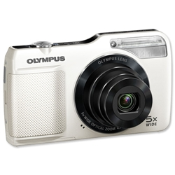 Olympus VG170 Digital Camera 3.0in LCD 5x Optical Zoom 14MP White Ref VG-170 - Item image