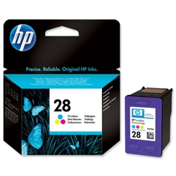 Hewlett Packard HP No. 28 Tri-Colour Inkjet Print Cartridge 8ml Ref C8728AE