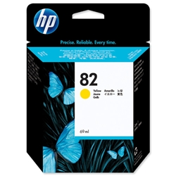 Hewlett Packard HP No. 82 Yellow Inkjet Cartridge 69ml Ref C4913AE