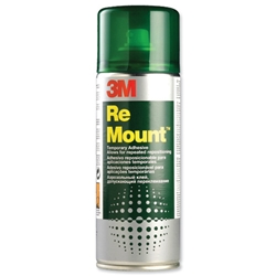 3M ReMount Adhesive Repositionable Spray Can 400ml Ref GS200018983