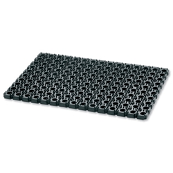 Floortex Octo Door Mat Indoor and Outdoor Rubber 400mmx600mm Black Ref 446220CBK
