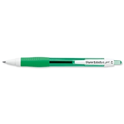 Paper Mate Gel Rollerball Pen 0.7mm Tip 0.5mm Line Green Ref S0903240 - Pack 12