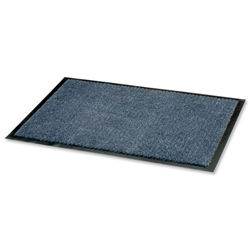 Door Mat Dust and Moisture Control Polypropylene 900mmx1200mm Blue