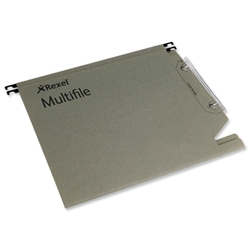 Multifile Lateral Suspension File Heavyweight Manilla V-base 15mm W330mm Green Ref 78080 [Pack 50]