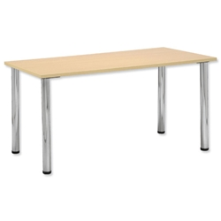 Trexus Conference Rectangular Table Silver Round Legs W1500xD750xH735mm - Item image