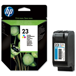 Hewlett Packard HP No. 23 Inkjet Cartridge Page Life 620pp 30ml Colour Ref C1823D