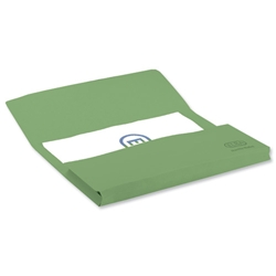 Elba Bright Manilla Document Wallet 285gsm Capacity 32mm Foolscap Green Ref 100090268 [Pack 25]