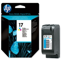 Hewlett Packard HP No. 17 Inkjet Cartridge Page Life 480pp 15ml Colour Ref C6625A
