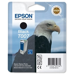 Epson T007 Inkjet Cartridge Intellidge Eagle Page Life 540pp Black Ref C13T00740110