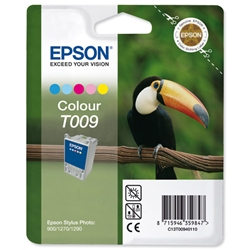 Epson T009 Inkjet Cartridge Intellidge Toucan Page Life 330pp Colour Ref C13T00940110