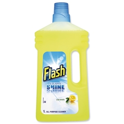 Flash All Purpose Cleaner for Washable Surfaces 1 Litre Lemon Fragrance Ref Ref N05865