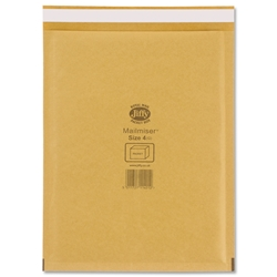 Jiffy Mailmiser No.4 Gold Bubble-lined Protective Envelopes 230x320mm Ref JMM-GO-4 - Pack 50