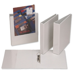 Esselte A4 Presentation Ring Binder Polypropylene 2 D-Ring 25mm White Ref 49737 - Pack 10