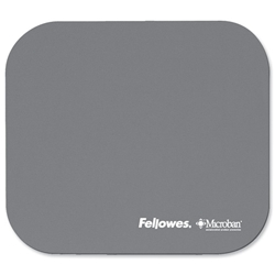 Fellowes Microban Mousepad Antibacterial with Non-slip Base Silver Ref 5934005 - Item image