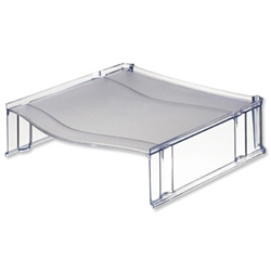 Universal Riser Platform for Letter Trays Translucent Grey