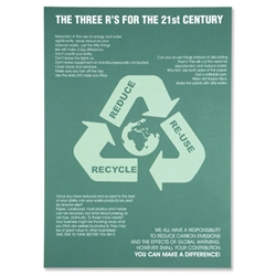 SSeco 3Rs Environmental Poster for Awareness PVC Recycle Reduce Re-use W420xH595mm Ref ENV07