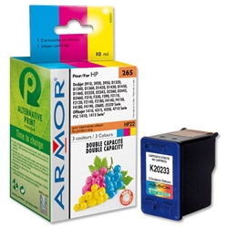 Armor Compatible Inkjet Cartridge Page Life 320pp Colour - HP No.22 C9352CE Equivalent Ref K20233 - Item image