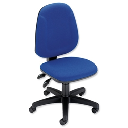 Trexus Plus High Back Chair Permanent Contact W460xD450xH460-590mm Backrest H510mm Blue