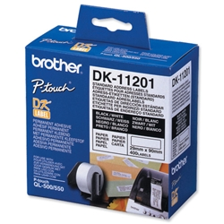 Brother DK11201 Standard White Address Label 29mm x 90mm Ref DK-11201 - Roll of 400