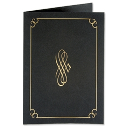 Certificate Covers Linen Finish Heavyweight Card Stock 290g Black [Pack 5]