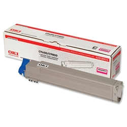 OKI Magenta Laser Toner Print Cartridge for C9600/C9800 Ref 42918914