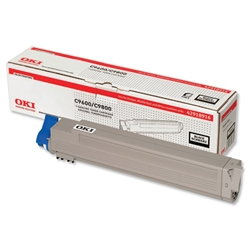 OKI Black Laser Toner Print Cartridge for C9600/C9800 Ref 42918916