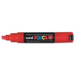 uni PC-8K Posca Water-based Marker Board Red Ref 9002202 - Pack 6 - Item image