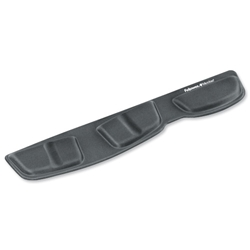 Fellowes Professional Fabric Keyboard Palm Rest Microban Cushioned Black Ref 9182801