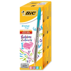 Bic Cristal Large Ballpoint Pen Broad Nib 1.6mm Line Width 0.8mm Blue Ref 880656 - Pack 50