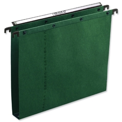 Elba Ultimate Suspension File Manilla Vertical 350sheet 30mm Foolscap Green Ref 100330319 - Pack 25