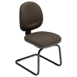 Trexus Plus Cantilever Visitors Chair Back H400mm Seat W460xD450xH470mm Charcoal