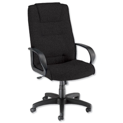 Trexus Intro Managers Armchair Back H720mm W530xD510xH470-570mm Charcoal