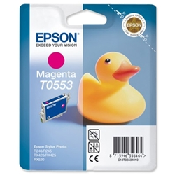 Epson T0553 Inkjet Cartridge Duck Magenta Ref C13T05534010