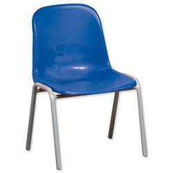 Trexus Polypropylene Chair Stackable Metal Frame H310mm Blue Ref SN71W00